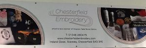 sponsorship banner chesterfield embroidery