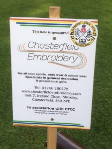 sponsored hole chesterfield embroidery