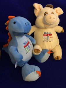 dinosaur & pig teddy
