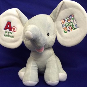 Cuddly Elephant With Embroidered Ears