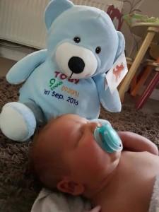personalised blue cubbie