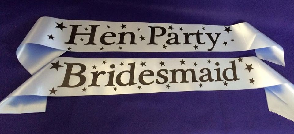 Personalised Hen Do Sashes