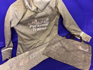 embroidered personal trainer items